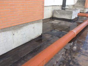 realizzazione impermeabilizzazione facciata tubature