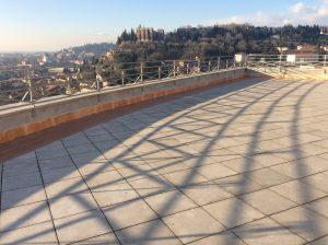 rifacimento terrazza panoramica dettaglio parapetto