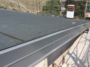 rifacimento bordo copertura a falde guaina ardesiata