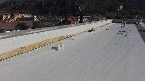 rifacimento copertura commerciale pvc sintetico saldatura