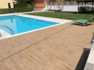 rifacimento terrazza giardino con piscina