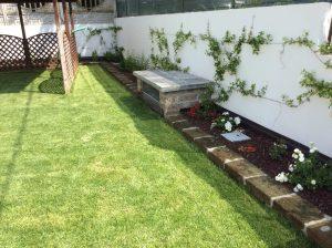 rifacimento terrazza giardino con piscina 2
