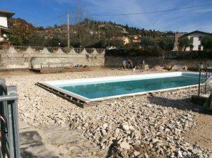 rifacimento impermeabilizzazione terrazza giardino con piscina 5