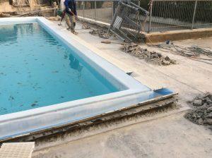 rifacimento impermeabilizzazione terrazza giardino con piscina 6
