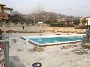 rifacimento impermeabilizzazione terrazza giardino con piscina 7