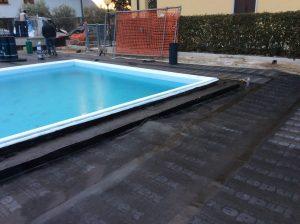 rifacimento impermeabilizzazione terrazza giardino con piscina 8