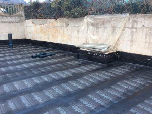 rifacimento impermeabilizzazione terrazza giardino con piscina 9